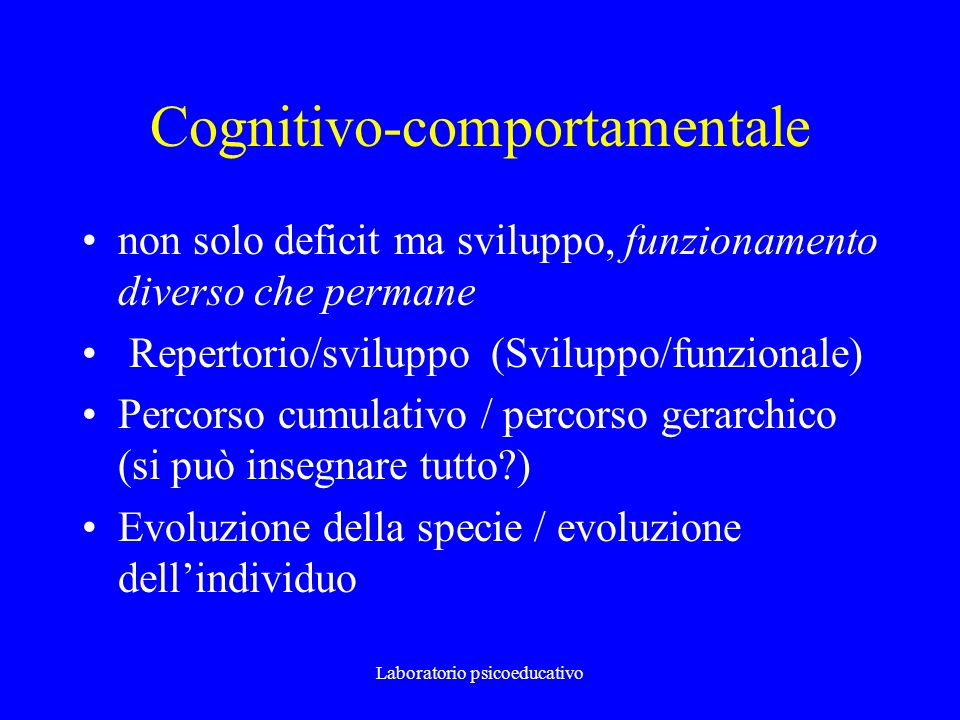 Cognitivo-comportamentale