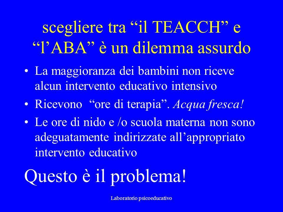 scegliere tra il TEACCH e l'ABA è un dilemma assurdo