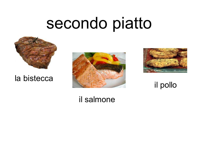 secondo piatto la bistecca il pollo il salmone