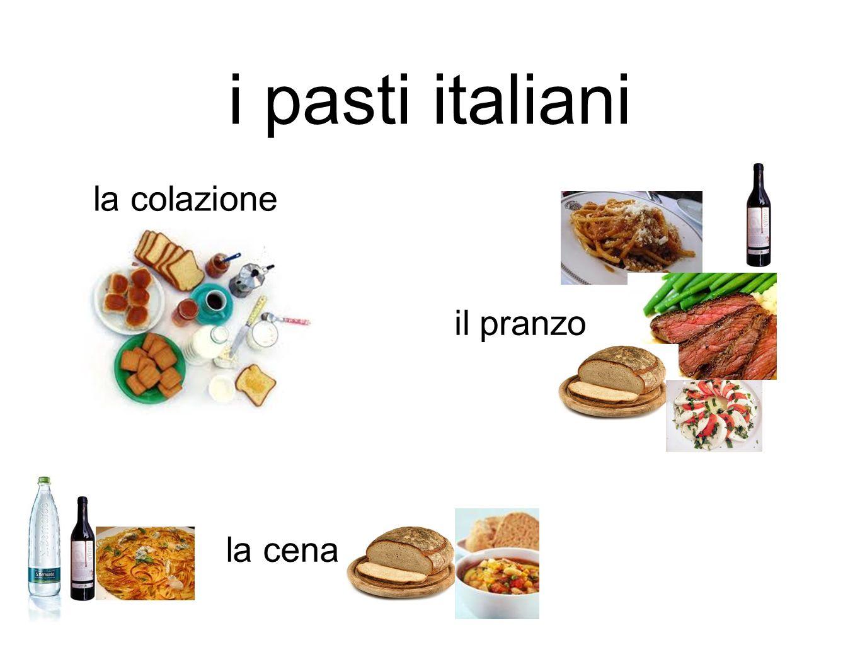 i pasti italiani la colazione il pranzo la cena