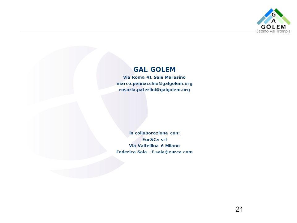 in collaborazione con: Federica Sala - f.sala@eurca.com