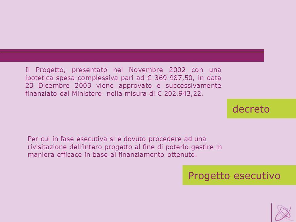 decreto decreto Progetto esecutivo