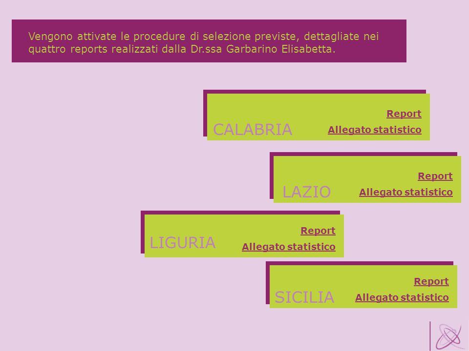 CALABRIA LAZIO LIGURIA SICILIA