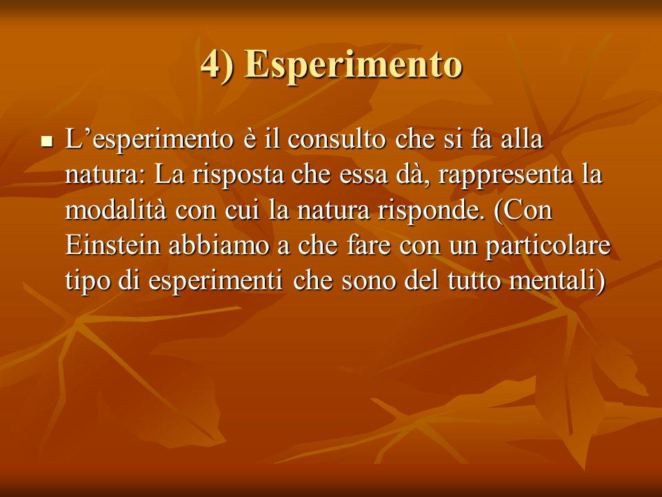 4) Esperimento