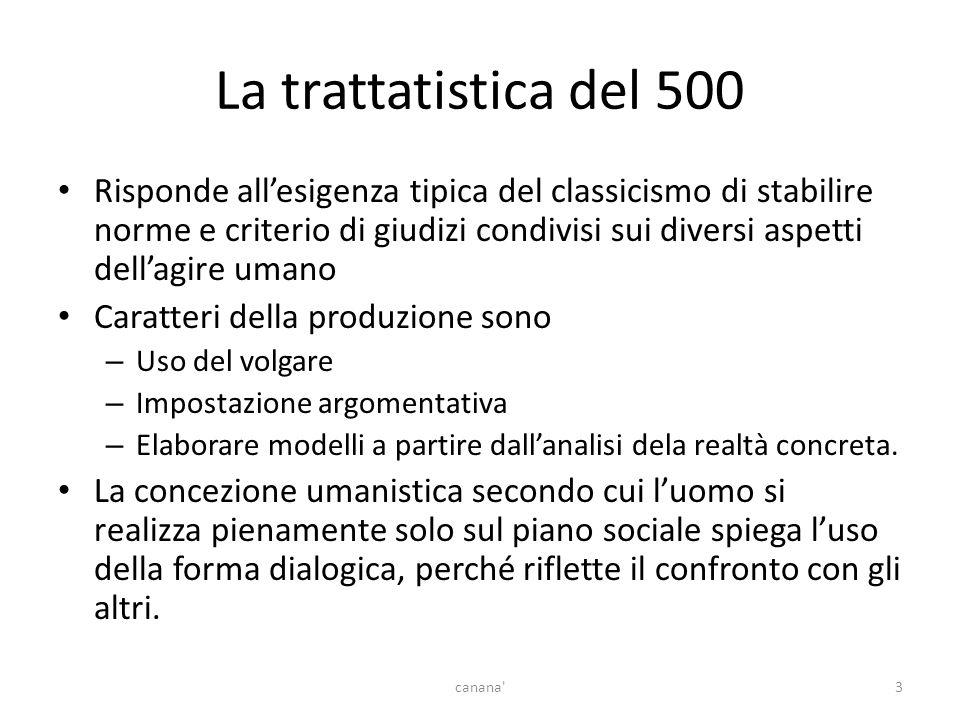 La trattatistica del 500