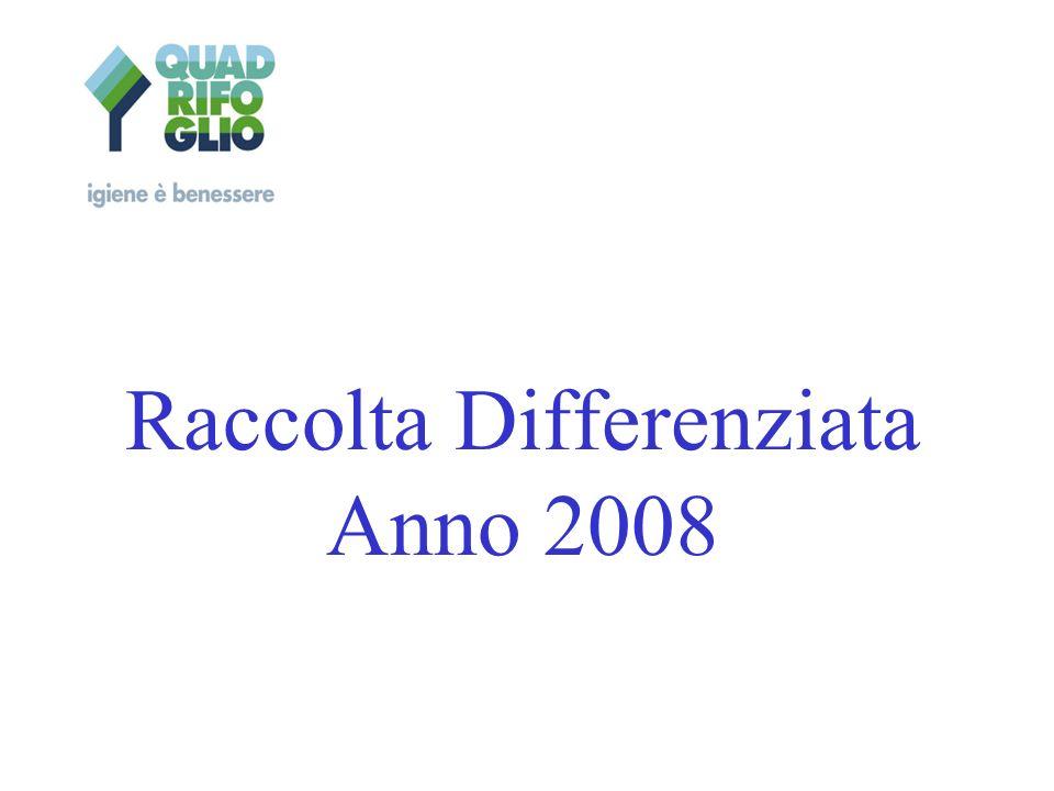 Raccolta Differenziata Anno 2008