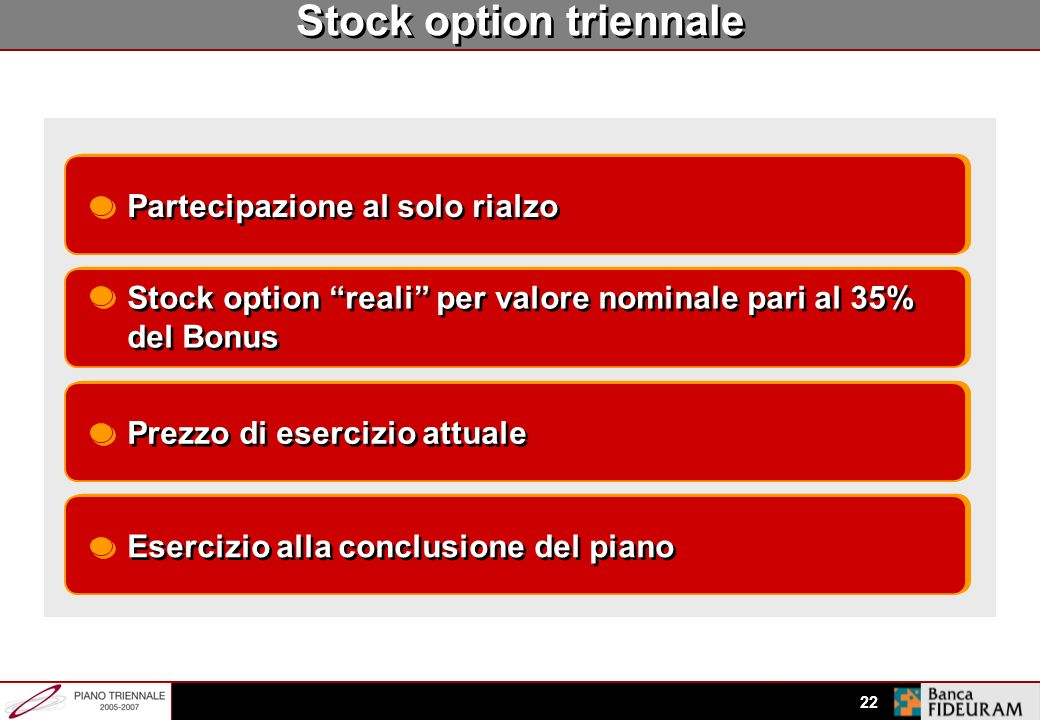 Stock option triennale