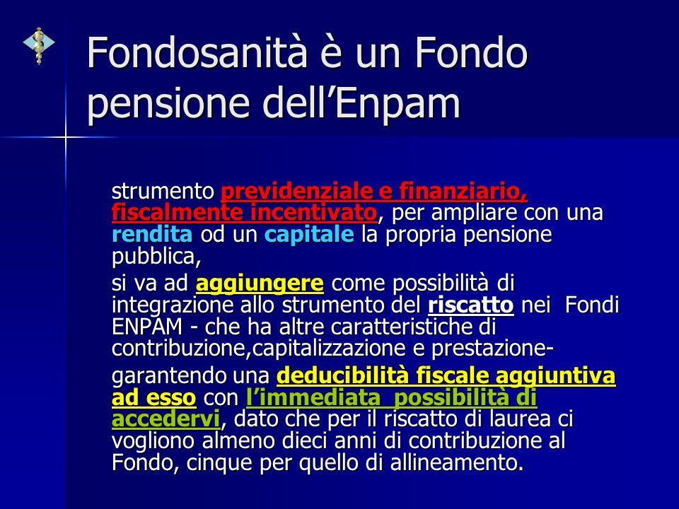 Fondosanità è un Fondo pensione dell'Enpam