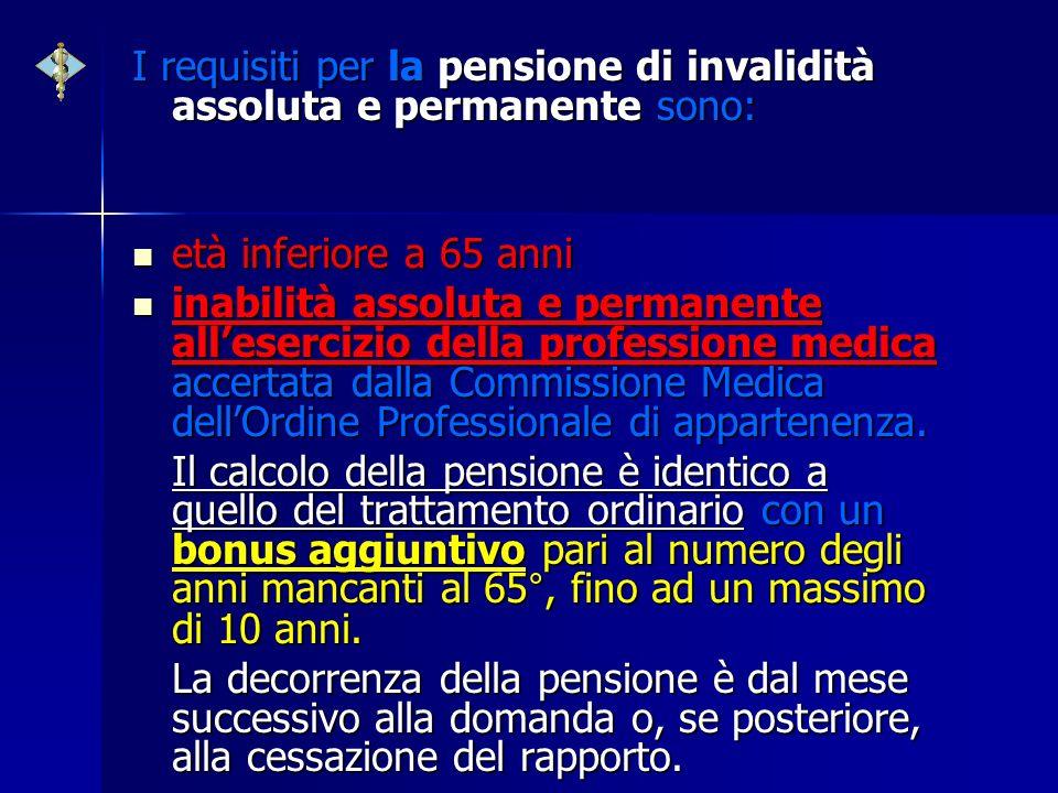 I requisiti per la pensione di invalidità assoluta e permanente sono: