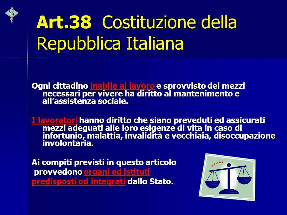 Art.38 Costituzione della Repubblica Italiana