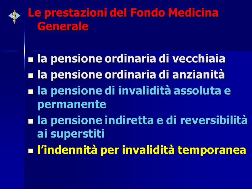 Le prestazioni del Fondo Medicina Generale