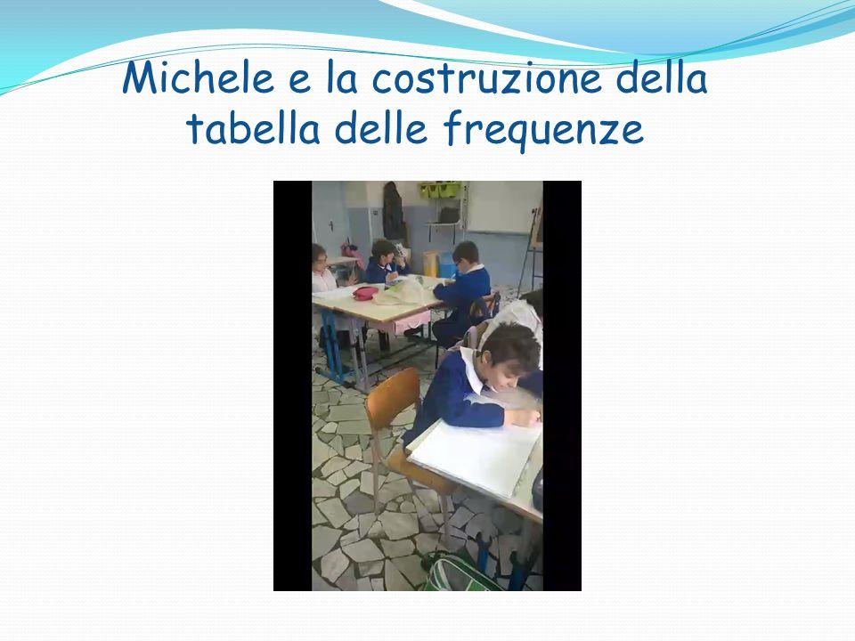 Michele e la costruzione della tabella delle frequenze
