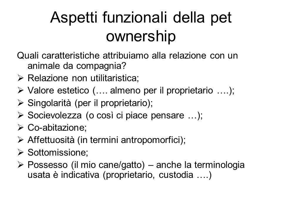 Aspetti funzionali della pet ownership
