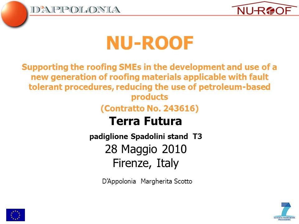 NU-ROOF Terra Futura 28 Maggio 2010 Firenze, Italy