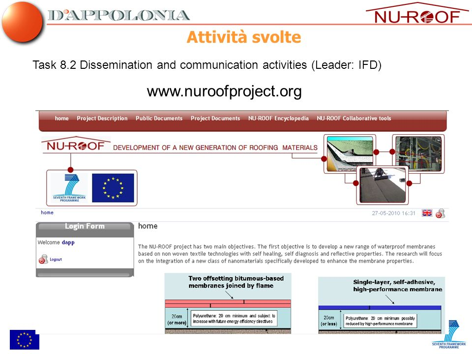 Attività svolte www.nuroofproject.org