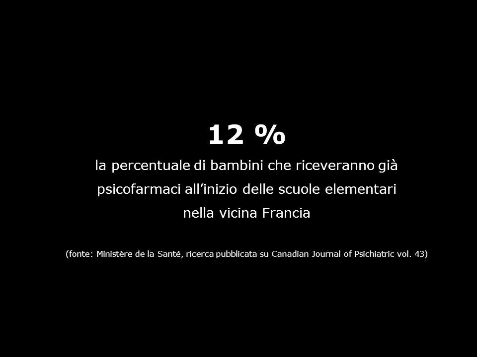 12 % la percentuale di bambini che riceveranno già