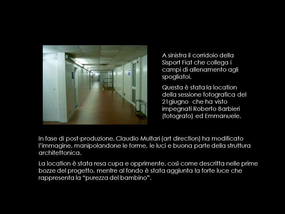 A sinistra il corridoio della Sisport Fiat che collega i campi di allenamento agli spogliatoi.