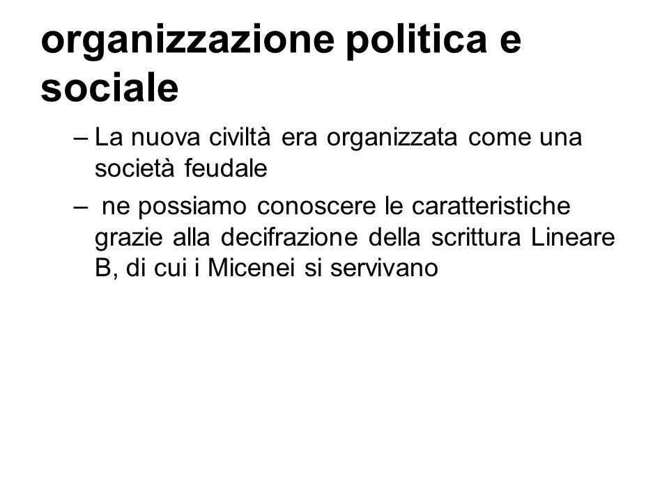 organizzazione politica e sociale