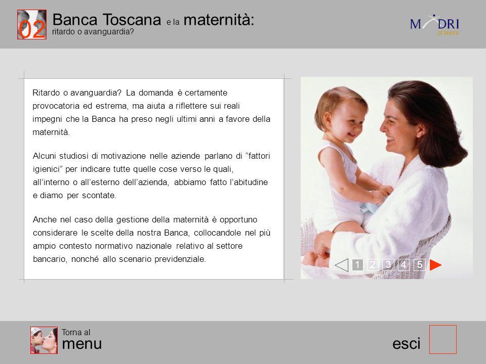02 Banca Toscana e la maternità: ritardo o avanguardia menu esci 1 2
