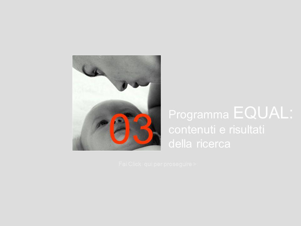 03 Programma EQUAL: contenuti e risultati della ricerca