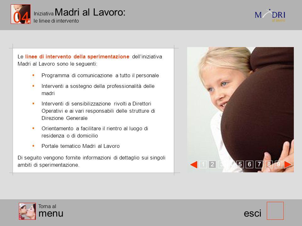 04 Iniziativa Madri al Lavoro: le linee di intervento.