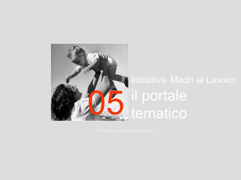 05 Iniziativa Madri al Lavoro: il portale tematico
