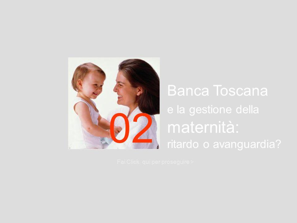 02 Banca Toscana e la gestione della maternità: ritardo o avanguardia