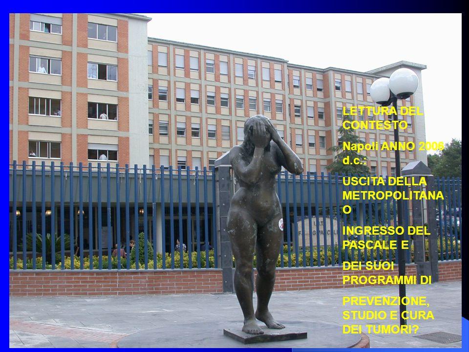 LETTURA DEL CONTESTO Napoli ANNO 2006 d.c.: USCITA DELLA METROPOLITANA O. INGRESSO DEL PASCALE E.