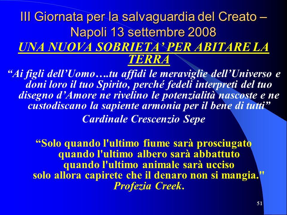 III Giornata per la salvaguardia del Creato – Napoli 13 settembre 2008