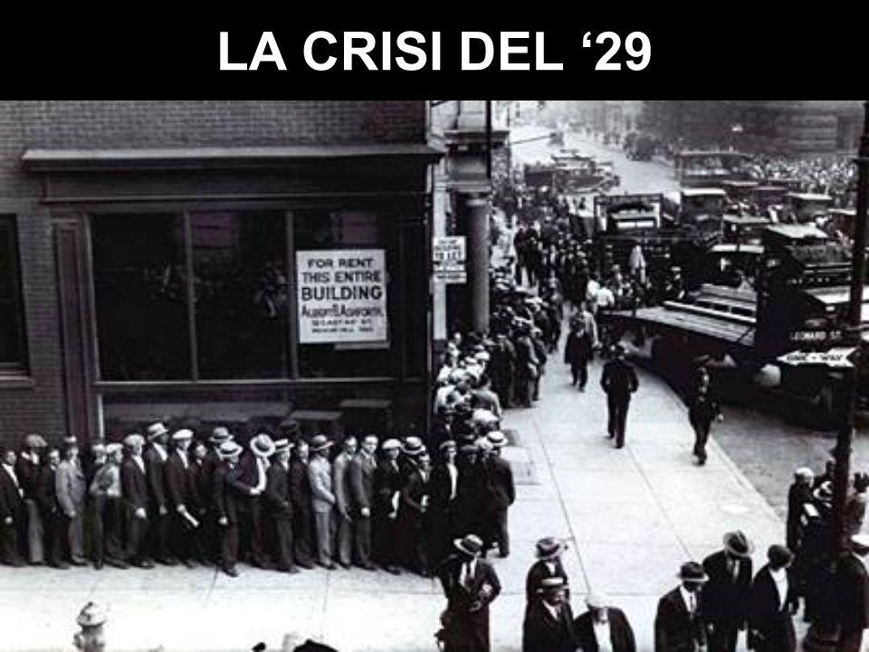 LA CRISI DEL '29
