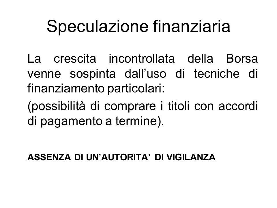 Speculazione finanziaria
