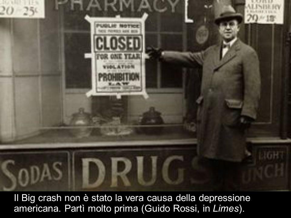 Il Big crash non è stato la vera causa della depressione americana