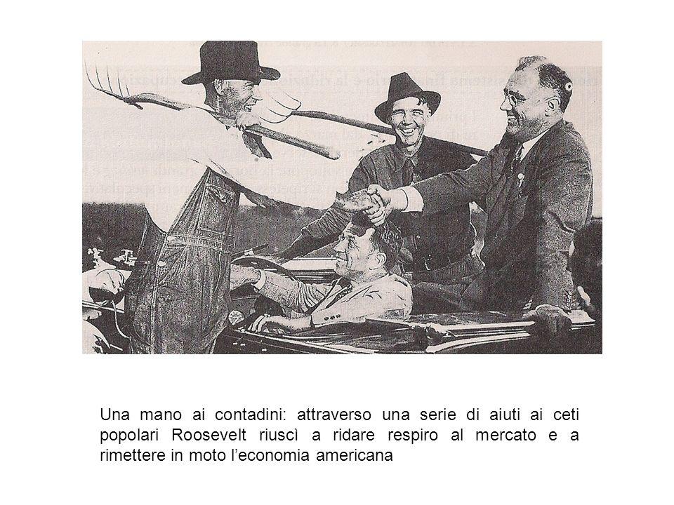 Una mano ai contadini: attraverso una serie di aiuti ai ceti popolari Roosevelt riuscì a ridare respiro al mercato e a rimettere in moto l'economia americana