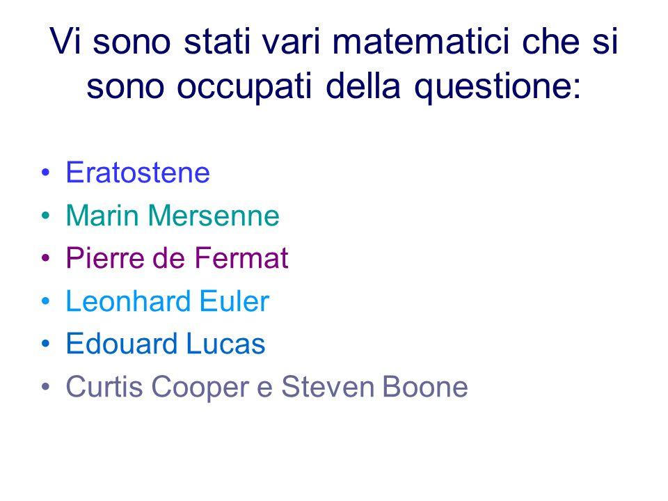 Vi sono stati vari matematici che si sono occupati della questione: