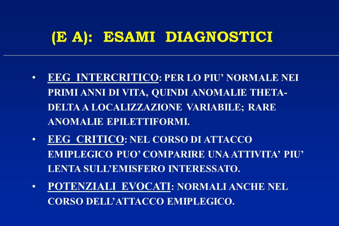 (E A): ESAMI DIAGNOSTICI