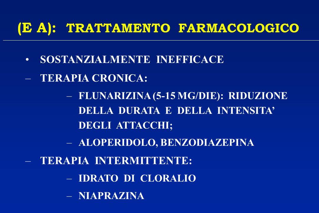 (E A): TRATTAMENTO FARMACOLOGICO