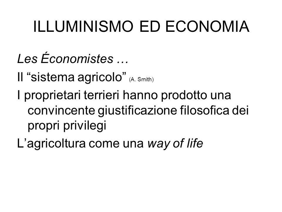 ILLUMINISMO ED ECONOMIA