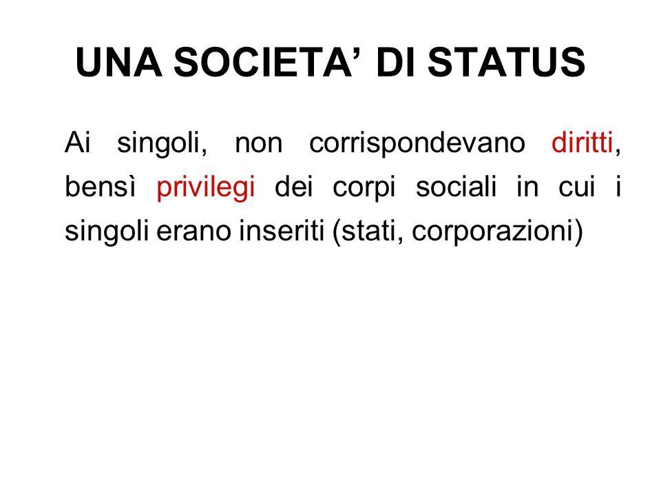 UNA SOCIETA' DI STATUS