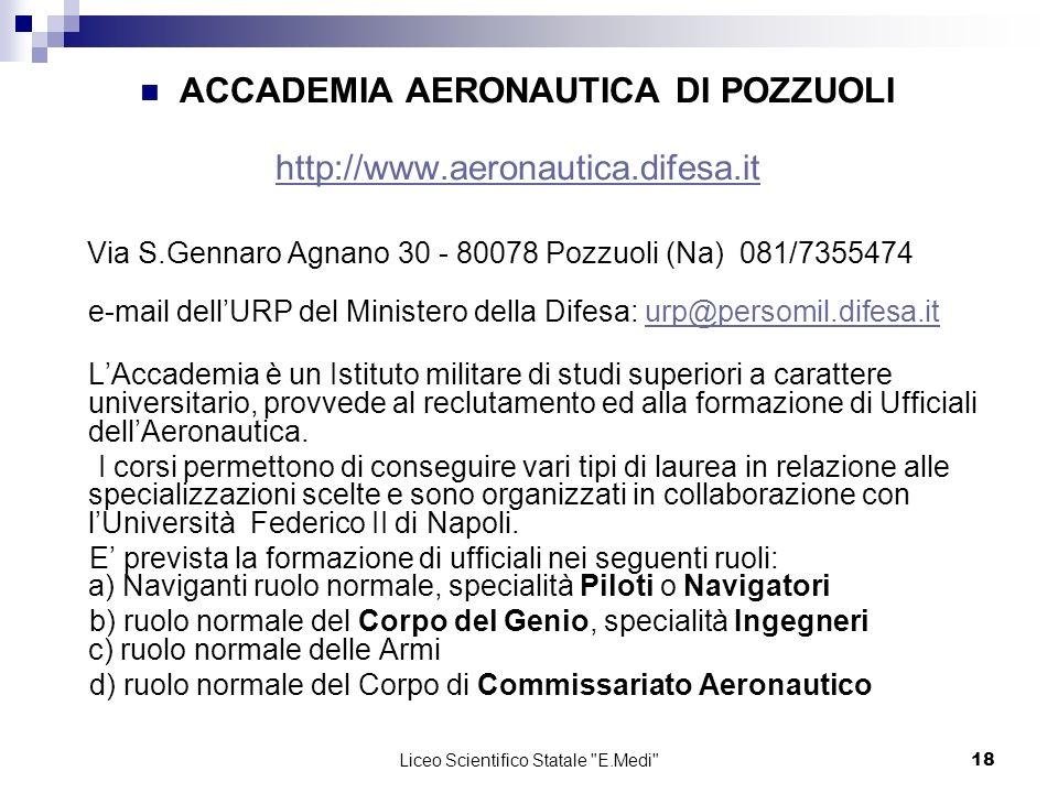 ACCADEMIA AERONAUTICA DI POZZUOLI http://www.aeronautica.difesa.it