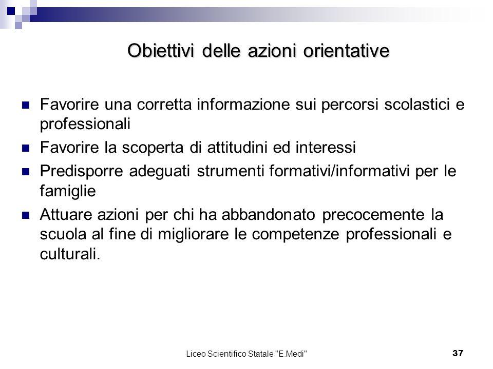 Obiettivi delle azioni orientative