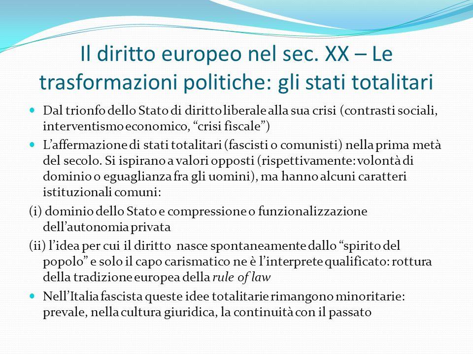 Il diritto europeo nel sec