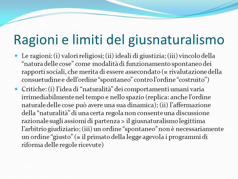 Ragioni e limiti del giusnaturalismo
