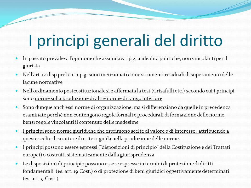 I principi generali del diritto