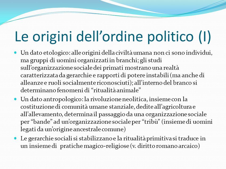 Le origini dell'ordine politico (I)