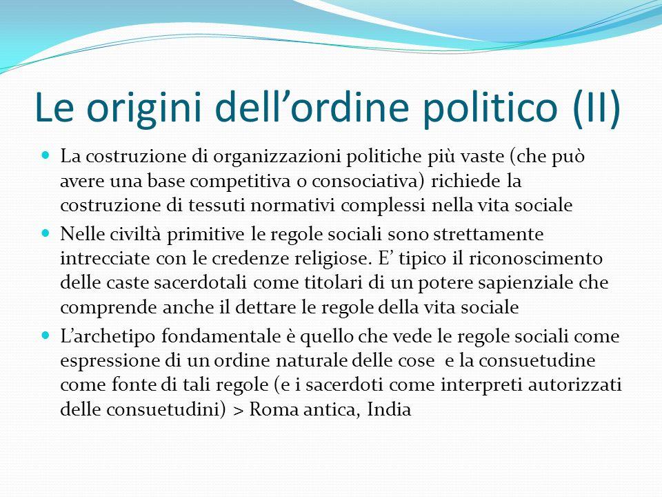 Le origini dell'ordine politico (II)
