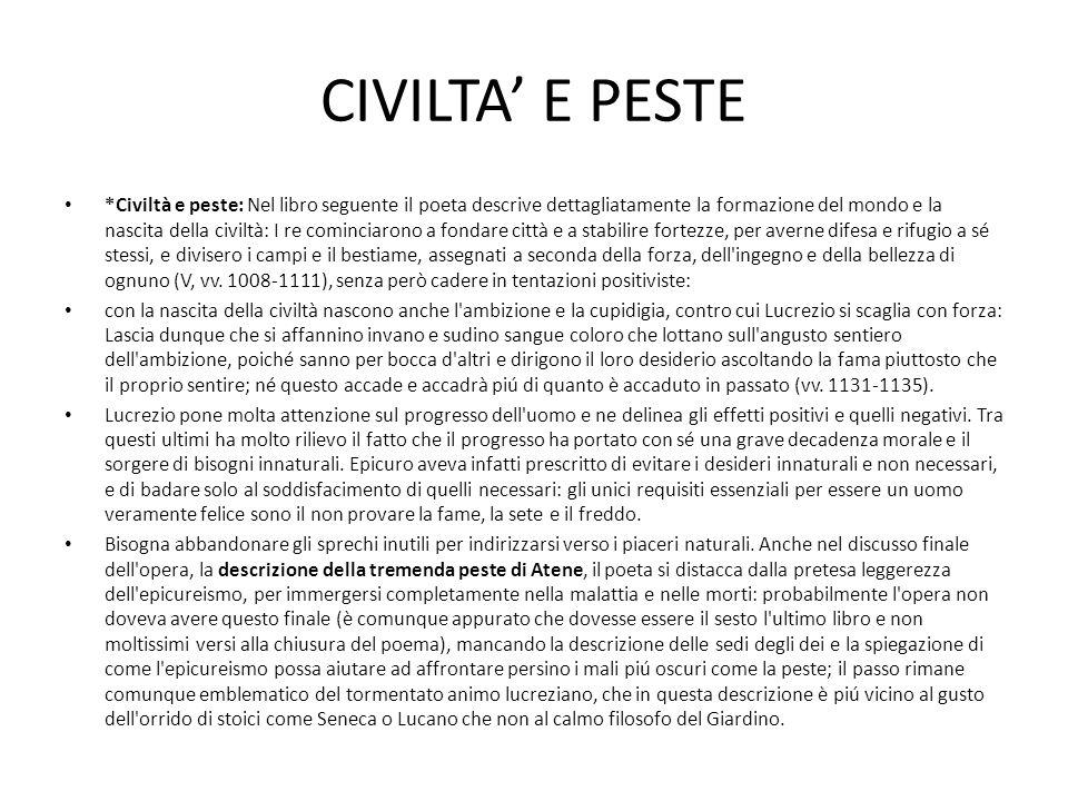 CIVILTA' E PESTE