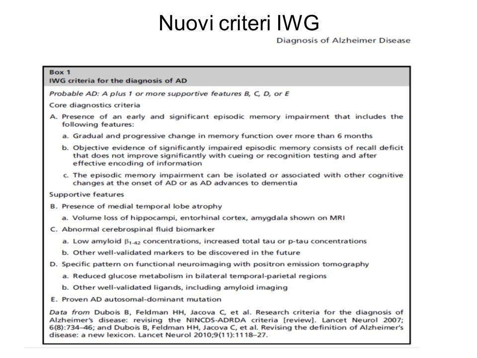 Nuovi criteri IWG