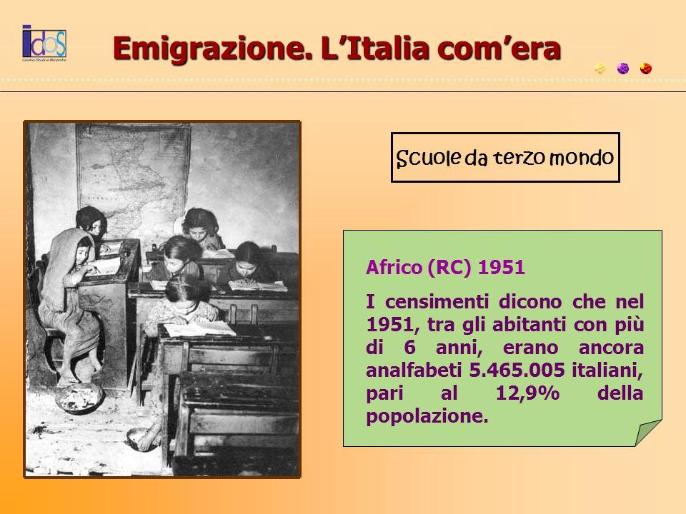 Emigrazione. L'Italia com'era