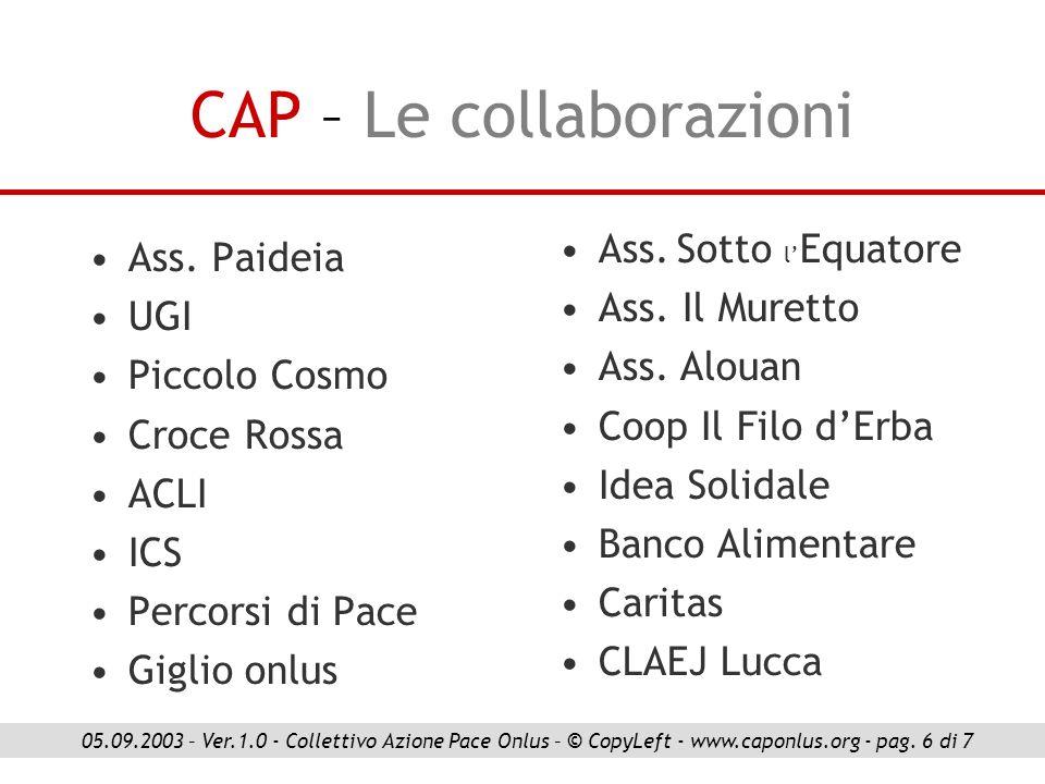 CAP – Le collaborazioni