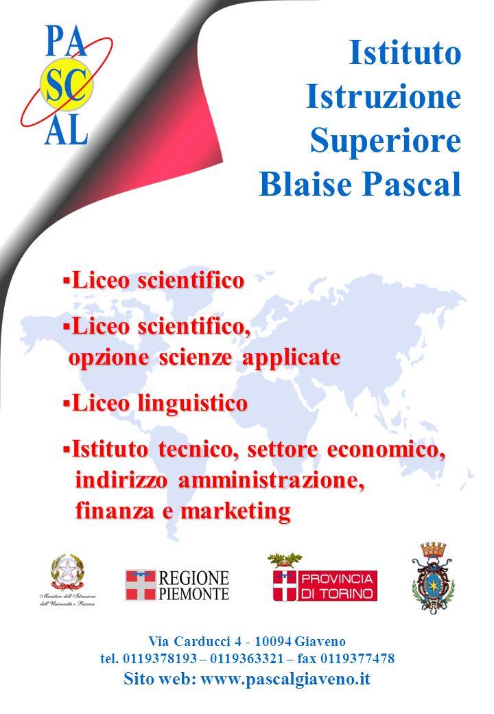 Istituto Istruzione Superiore Blaise Pascal Liceo scientifico
